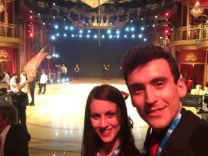 Andrea Vighi e Chiara Benati a Ballando con le Stelle Auditorium Rai