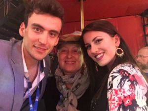 Andrea Vighi e Chiara Benati a Ballando con le Stelle con Carolyn Smith