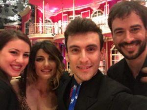 Andrea Vighi e Chiara Benati a Ballando con le Stelle con i vincitori Iago Garcia e Samanta Togni